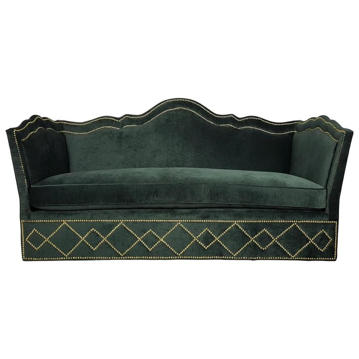 Incredibly Luxurious Sofa with Nailhead Detail by Baker Furniture, 1960s | 1stdibs.com