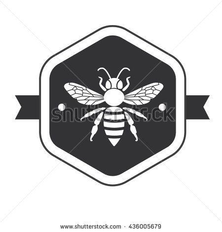 stock-vector-bee-icon-on-hexagon-vector-honey-bee-sign-bee-silhouette-black-and-white-honey-bee-logotype-436005679.jpg (450×470)