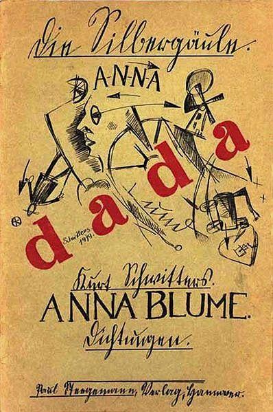 Couverture d'Anna Blume, poème de Kurt Schwitters publié en 1919 dans la revue Der Sturm