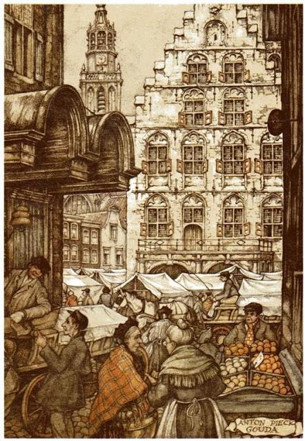 Anton Pieck Dutch painter, graphic artist,watercolour, etchings, woodcarvings, engravings