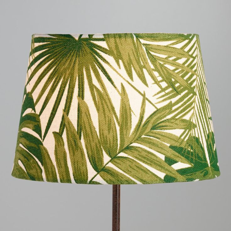 Jungle Print Cotton Accent Lamp Shade Green By World