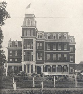 Social Evil Hospital, later known as Female Hospital, where Josephine Baker was born shortly before it was razed and made into Sublette Park
