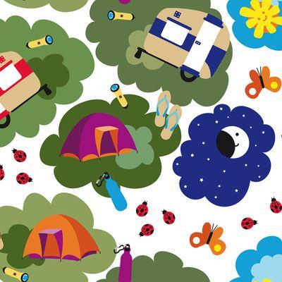 Camping feliz - GValencia | Impresión de telas con diseños personalizados | ilatela.com