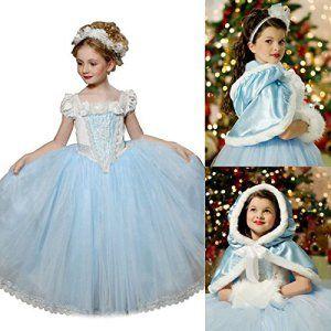 UK1stChoice-Zone Bonne Qualité Dernière conception Filles Reine des Neiges Princesse Partie Costumée Déguisements Robe de Soirée (4-5 ans,…