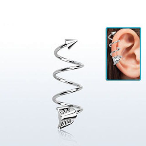 details about single barbell 16g helix piercing spiral. Black Bedroom Furniture Sets. Home Design Ideas