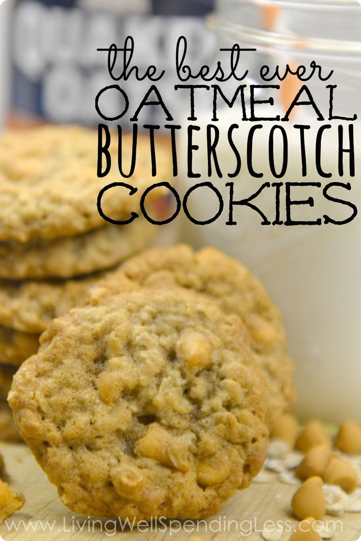 Best Ever Oatmeal Butterscotch Cookies Vertical 2