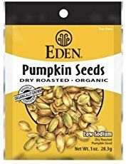 Raw pumpkin seeds calories, fat content, protein, carbohydrates, fiber, vitamins, minerals and other nutrition, plus why they make such a healthy snack.