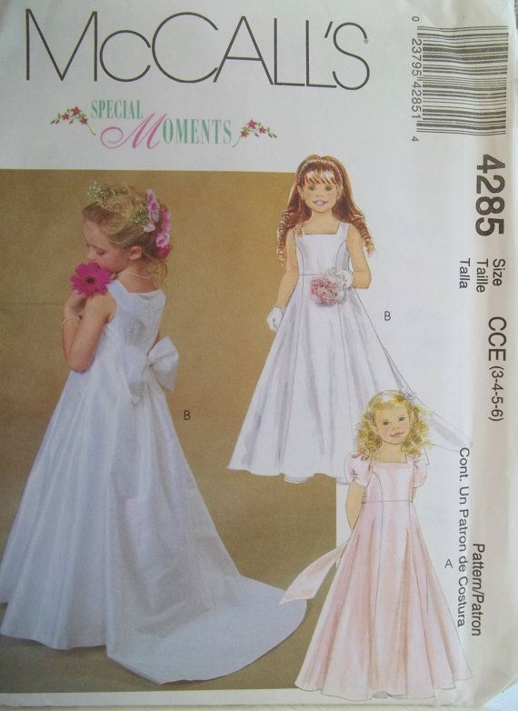 Flower Girl Dress McCall's 4285 Sewing Pattern by WitsEndDesign
