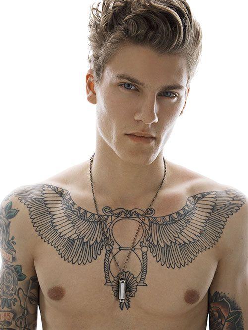 Alas en pecho #InkMX #BlancoyNegro #Tatuajes