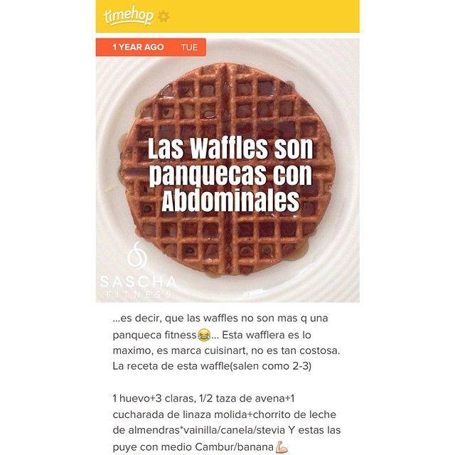 """""""Hace exactamente 1 año hice este post! a quien no le gustan los waffles!??? (mi wafflera es marca cuisinart, es pequeña y de las más economicas,…"""""""