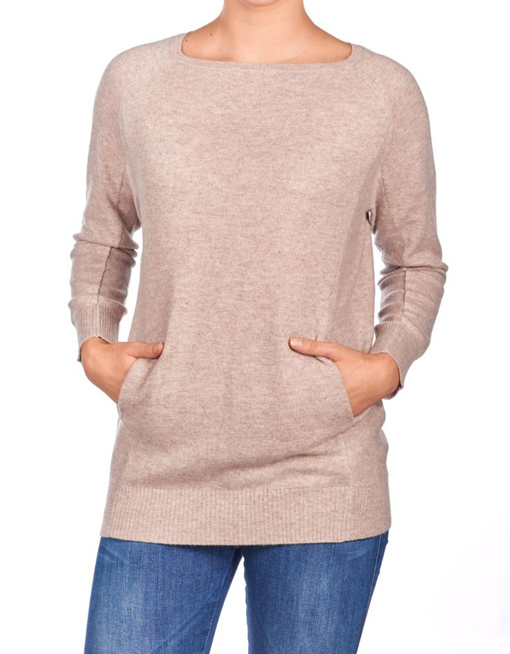 BOAT NECK SWEATER POCKETS #11014