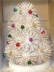 holiday tree, toothpick tree, ornaments
