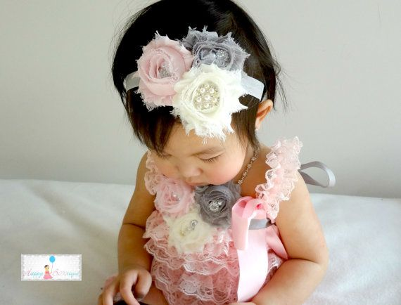 Our most Popular and best selling set! Your choice of Romper only, Romper and headband, or complete 3 pieces look- Romper, headband, and flower
