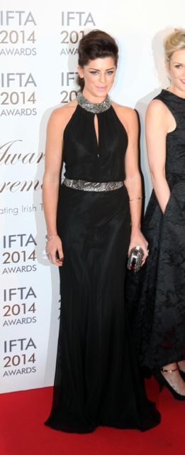 Aoibhinn Mcginnity wearing Dresscode.ie @ the Ifta awards 2014