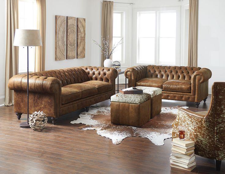 England Furniture 2r00al In Stallone Rawhide Fabric Sofa