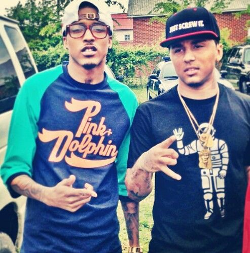 August Alsina & Kirko Bangz , they are so damn cute and sexy at the same damn time .