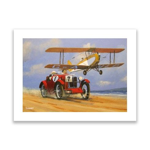 MG and TIGER MOTH Print by geoffthornley at zippi.co.uk