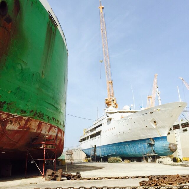 Dry docking services by Oman Drydock Company in Duqm