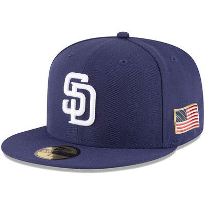 Men's New Era Navy San Diego Padres Authentic 9/11 59FIFTY Fitted Hat