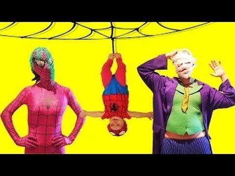 Человек паук ┃Малыш паука и Девушка паук против Джокера