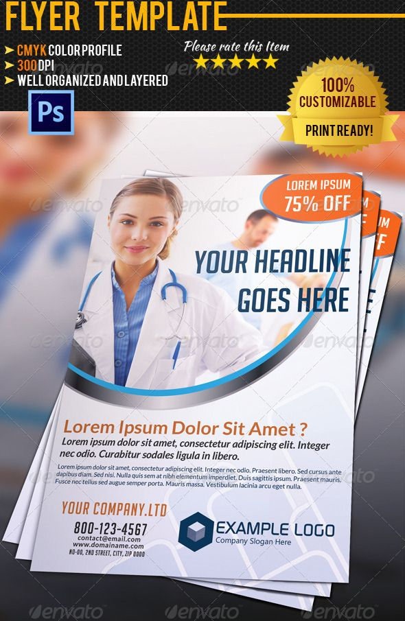 24 best Flyer Design images on Pinterest Flyer design, Medical - hospital flyer template