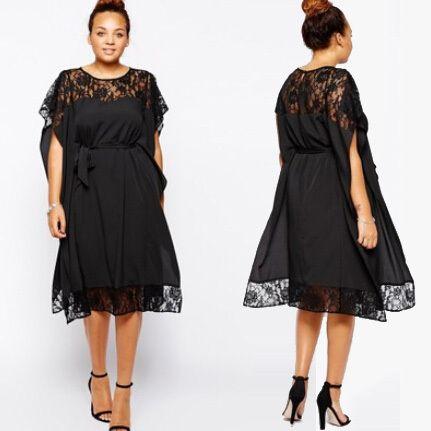 Summer Women Lace Dress Vestidos 6XL 5XL Plus Size Short Sleeve Casual Loose Party Dresses Big Size Batwing Short Sleeve Dress