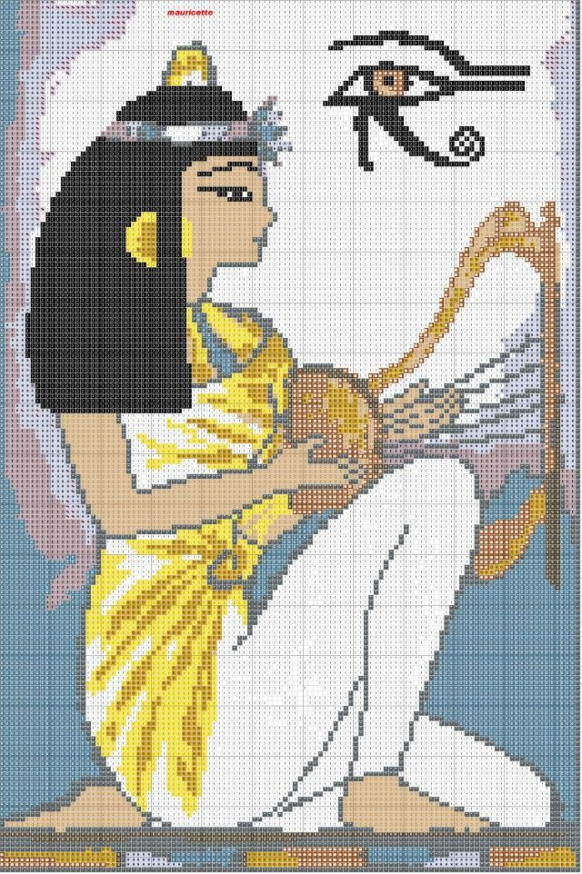 0 point de croix femme égyptienne - cross stitch egyptian lady