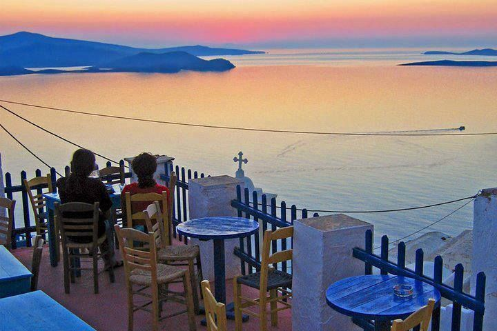 Coffee shop with amazing view in Amorgos island