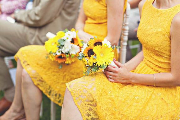 Under the Tuscan Sun - A Wedding Filled With Sunshine and Sunflowers and a Beautiful Vintage Wedding Dress...
