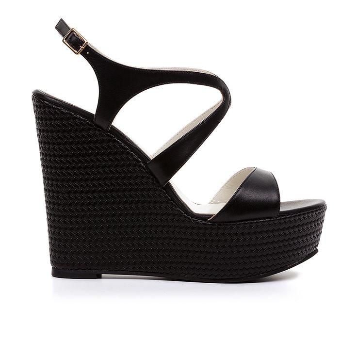 Code: 850D02 Heel height: 13 cm www.mourtzi.com #wedges #platform #sandals