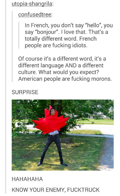 Canadian attack. I want a picture of Canada from hetalia wearing a leaf outfit like that