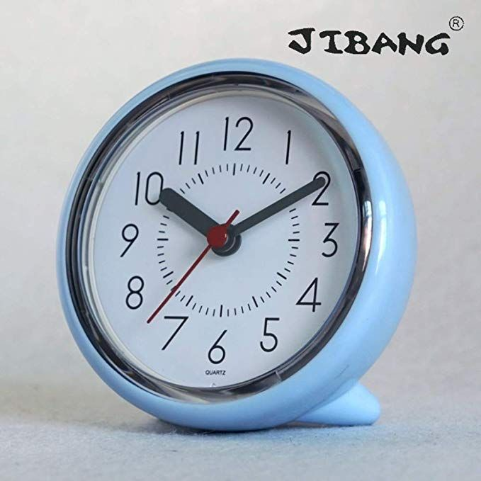 Jibang Bathroom Wall Clock Waterproof Suction Cup Silent Non