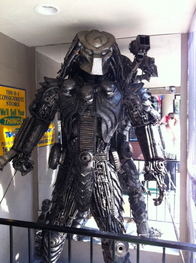 Made from motorcycle parts - watch out Arnie I think this guy might beat you!
