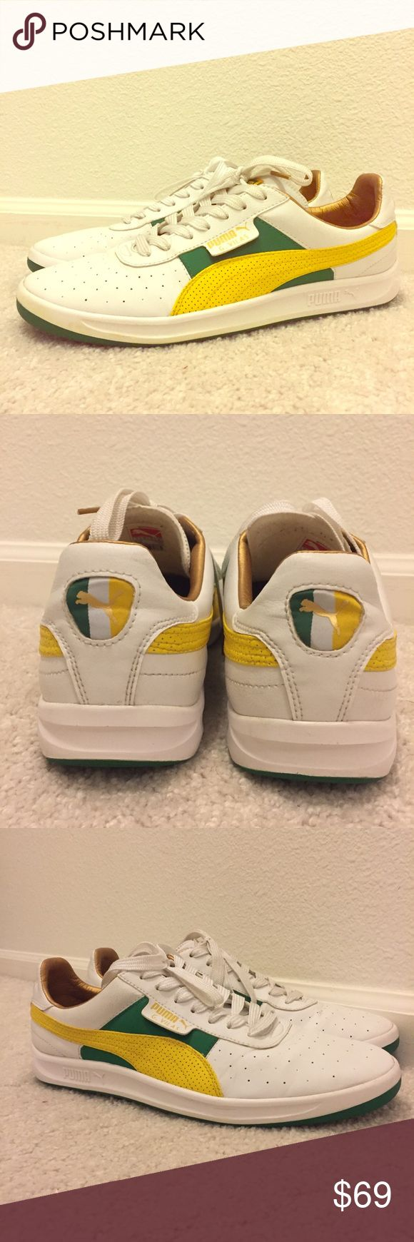 Puma G Vilas. Rasta Jamaican color way. Worn twice G vilas in rasta Jamaican colors size 10 men's. With the gold interior. A real show stopper. Bought them and wore them twice. I later moved and they've been hidden in a box since! Super comfortable and they're like new! Puma Shoes Sneakers