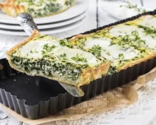 Tarte allégée aux épinards et à la mozzarella