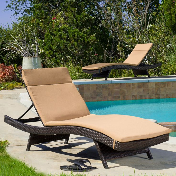 Claverton Down Outdoor Chaise Lounge Cushion