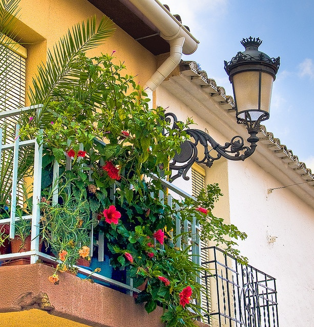 When a street light becomes your own personal lamppost -- Balcony in Teulada, Costa Blanca by Anguskirk, via Flickr - Spain