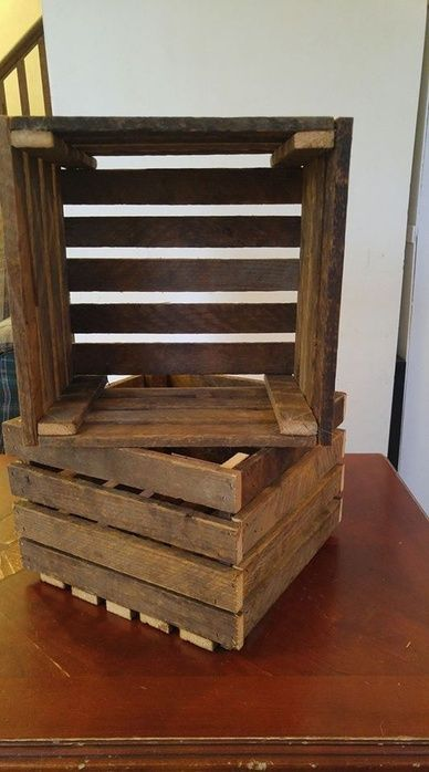 The unique rustic decor item is a great storage box or decor item in your home! #decor #rustic #storage