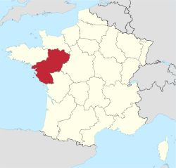 Pays de la Loire in France.svg