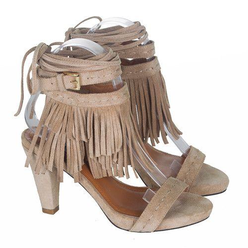 Новый Fringle гладиатор узелок женщины сандалии сапоги шипами высокие каблуки замши женщин PumpsTassel лодыжки ремень обуви женщинакупить в магазине All For Queen's House Impera ShowнаAliExpress