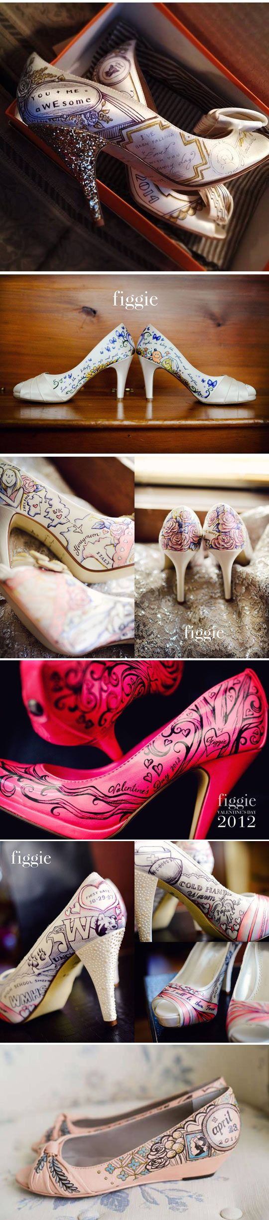 Stunning shoes you can get customized by an artist...