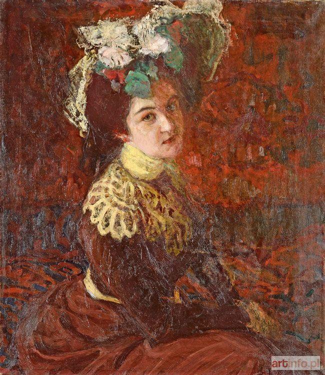 Fryderyk PAUTSCH ● PORTRET SIOSTRY (Kamili Pautsch), 1907 ●