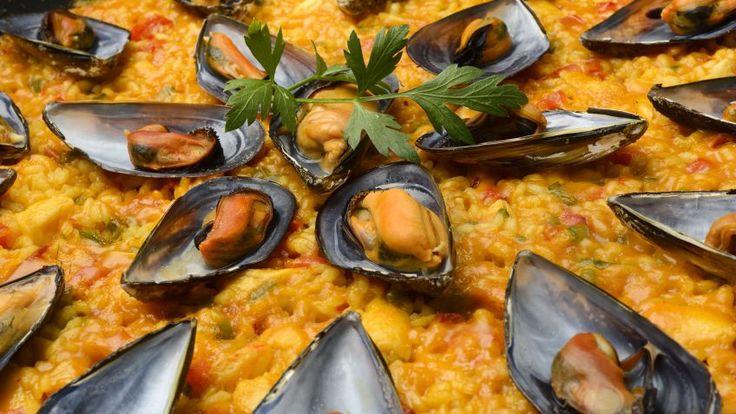 Paella de pescado y marisco - Presentación