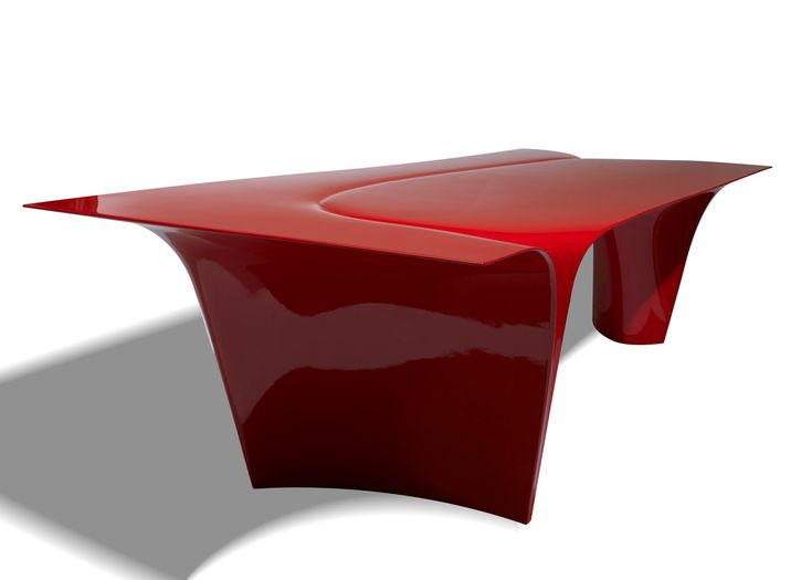 Italian furniture brand Sawaya & Moroni has unveiled a table designed by architect Zaha Hadid, who died unexpectedly last month