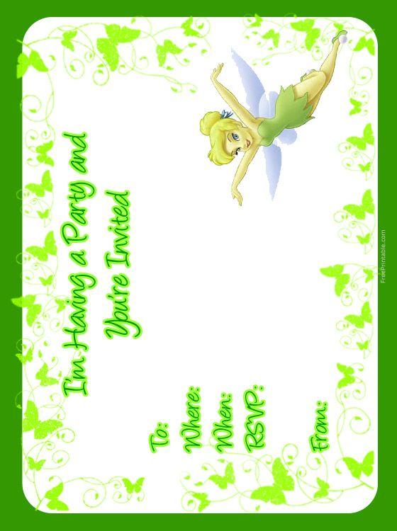 Printable Tinkerbell Invitations Free 2017 Tinkerbell
