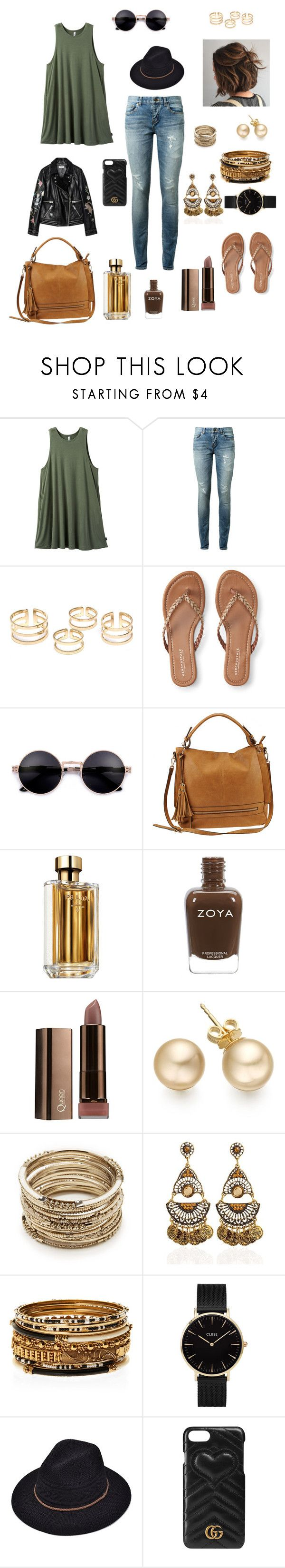 """Honestly... mood 😴"" by kae-mitch on Polyvore featuring RVCA, Yves Saint Laurent, Aéropostale, Urban Expressions, Prada, Sole Society, Amrita Singh, CLUSE and Gucci"