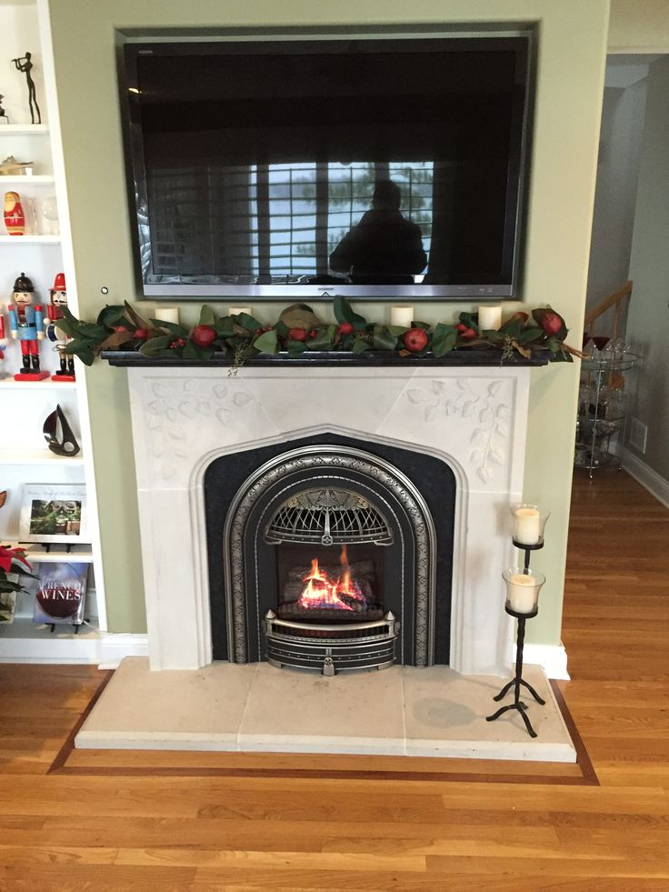 Valor 530ILN Log Fire Radiant Gas Direct Vent Fireplace or Insert Installed with Wind