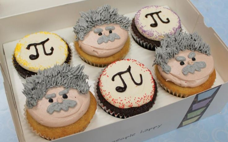 Cupcake of the Week: Albert Einstein Cupcakes for 3.14!