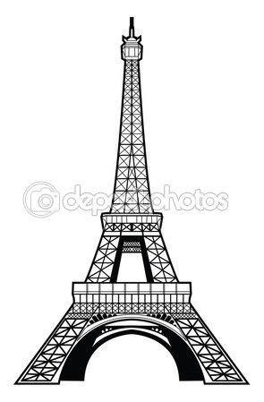 Eyfel Kulesi çizimi — Stok İllüstrasyon #35288775