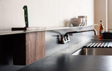 The Backsplash Kitchen Shelf and Integrated Knife Block by Viola Park.